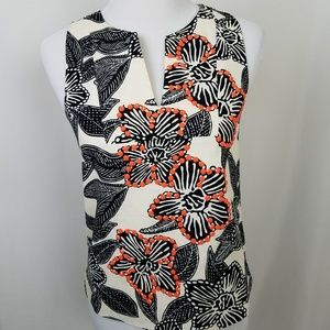 J. Crew size 2 Notched Shell in Polynesian Floral